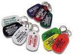 Custom Oval Flexible Key Tag