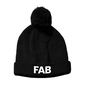 Sports Poms Poms Beanie Hat - F500744 - IdeaStage Promotional Products a0ff1a85d7db