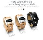 Custom Touch Screen Fitness Tracker with PU Leather Band