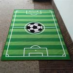 Custom Custom Soccer Field Logo Latex Rubber Backing Rugs