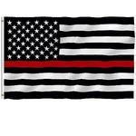 Economy USA National Flag w/Thin Red Line