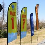 13' Single Sided Fiber Glass And Aluminum Sail Banner