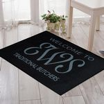 Custom 3'x4' Indoor Printed Covered Entrance Logo Mats Rugs