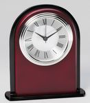 Custom Rosewood and Glass Clock
