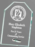 """10"""" x 8"""" Jade Octagon Standing Glass Award"""