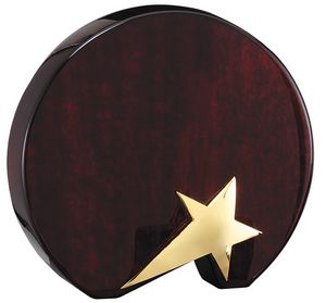 Rosewood Circle Plaque with Shooting Star