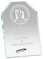 """9"""" x 7"""" Jade Octagon Standing Glass Award"""