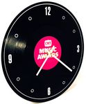 Custom LP Wall Clock - Screen Printed Numbers
