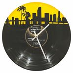 Custom Custom Cut LP Wall Clock - 2 Layer