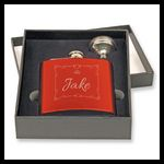 Stainless Steel Flask 2 pcs Gift Set, Gloss Red