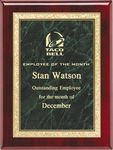 Custom Rosewood Plaque with Green Brass Engraving Plate