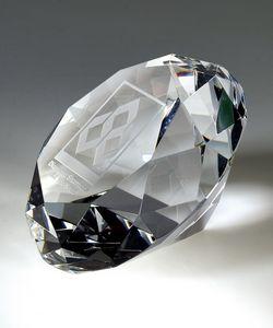 Crystal Diamond Paperweight