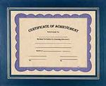 Custom Blue Certificate Holder