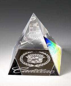 Crystal Pyramid Paperweight