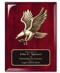Custom Rosewood Plaque with Eagle Casting