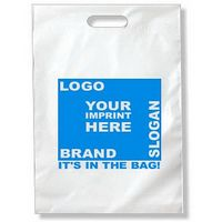 "9""x13"" Die Cut Handle 2.0 Mil. Recyclable Plastic Bag"