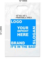 "12""x15"" Die Cut Handle 2.0 Mil. Recyclable Plastic Bag"
