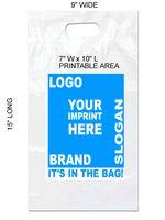 "9""x15"" Die Cut Handle 2.0 Mil. Recyclable Plastic Bag"