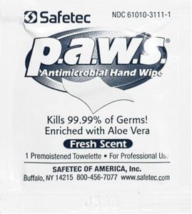 P.A.W.S Anti-Microbial Hand Wipes