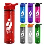 Custom 24 oz. Slim Fit Water Sports Bottle -Drink-Thru Lid