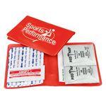 Custom Med-Wallet Vinyl First Aid Folder Kit