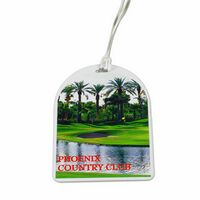 Oval Top Golf Tag with Digital Process Imprint