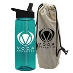 26 oz. Tritan Flair Bottle in a Cotton Tote