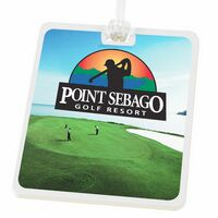 Rectangle Golf Tag with Digital Process Imprint