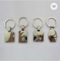 Zinc alloy square shaped keychains