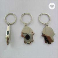 Metal hamsa shaped keychains