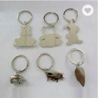 Metal bear shaped keychains