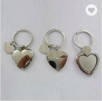 Metal heart shaped keychains 1