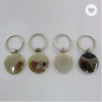 Metal round shaped keychains 1