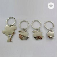 Metal apple shaped keychains