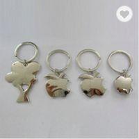 Metal apple shaped keychains