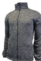 Unisex Heather Knitted Fleece Full Zip Jacket