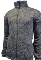 Adult Heather Knitted Fleece Full Zip Jacket