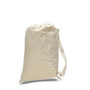 Natural Canvas Laundry Bag - Large