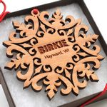 Custom Medallion Snowflake Ornament Gift Box