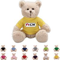 The Mellow Beige Bear in T-Shirt, A Fuzzy Stock Teddy Bear