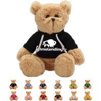 The Lively Brown Bear in Hoodie, A Fuzzy Stock Teddy Bear