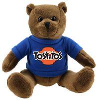 The Earnest Chocolate Bear in T-Shirt, A Strong Stock Teddy Bear
