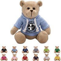 The Gentle Beige Bear in Hoodie, A Strong Stock Teddy Bear