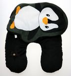 Custom Neck Pillow and Penguin Cushion Built 2-In-1 & Convertible