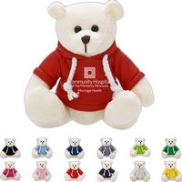 The Bright White Bear in Hoodie, A Strong Stock Teddy Bear