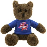 The Mellow Chocolate Bear in T-Shirt, A Fuzzy Stock Teddy Bear