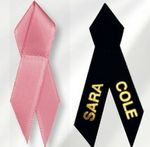 Custom Custom satin awareness ribbons - printed
