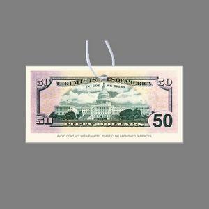 Paper Air Freshener - Full Color 50 Dollar Bill (Face Down)