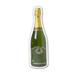 "Champagne Shaped Magnet - 0.88""x2.89"" (2.5 Sq. In.)"