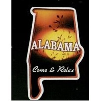 Alabama - Magnet 2.68 Sq. In. & 15 MM Thick